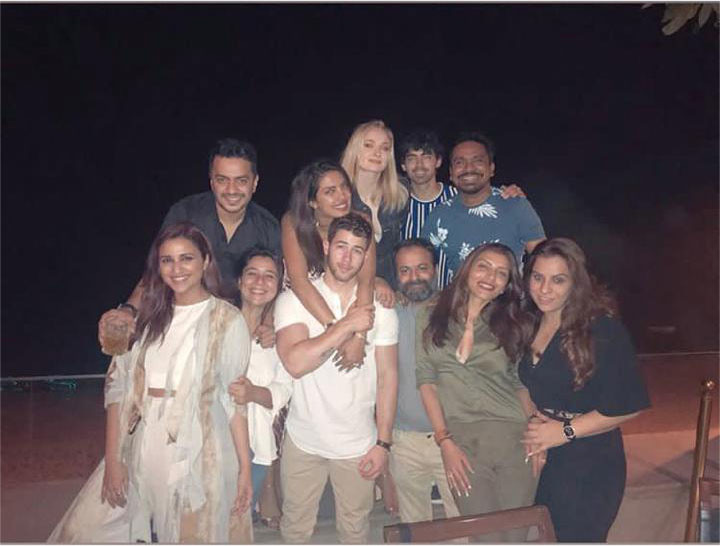 priyanka chopra nick jonas with their friends