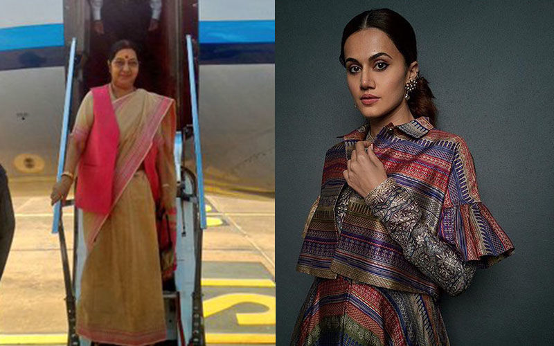 Taapsee Pannu Shows Keen Interest To Star In A Biopic On The Late Sushma Swaraj