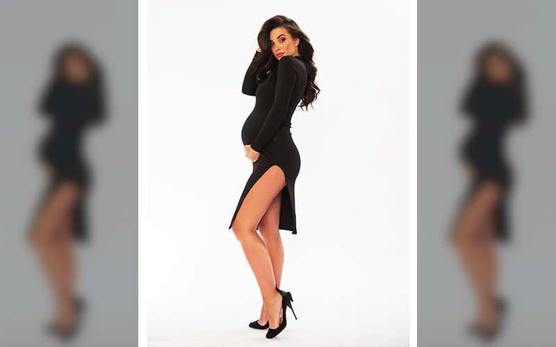 Amy Jackson Looks All Enviable In A LBD With Thigh High Slit As She Enters The 33rd Week Of Her Pregnancy