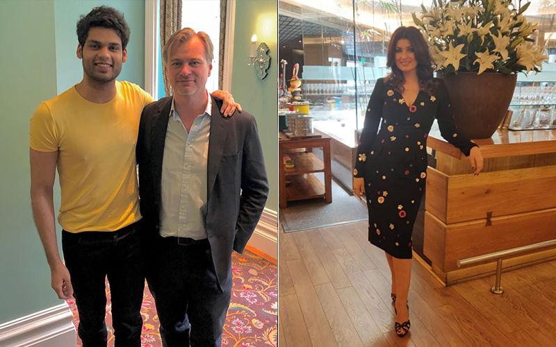 Twinkle Khanna's Cousin Karan Kapadia Meets Christopher Nolan; Mocks His Nipples By Calling It Crazy Kapadia Genes