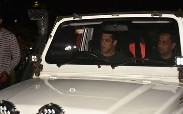 Salman Khan Arrives In Style Behind The Wheel Of A Jeep As He Shoots For Radhe: Your Most Wanted Bhai-PICS