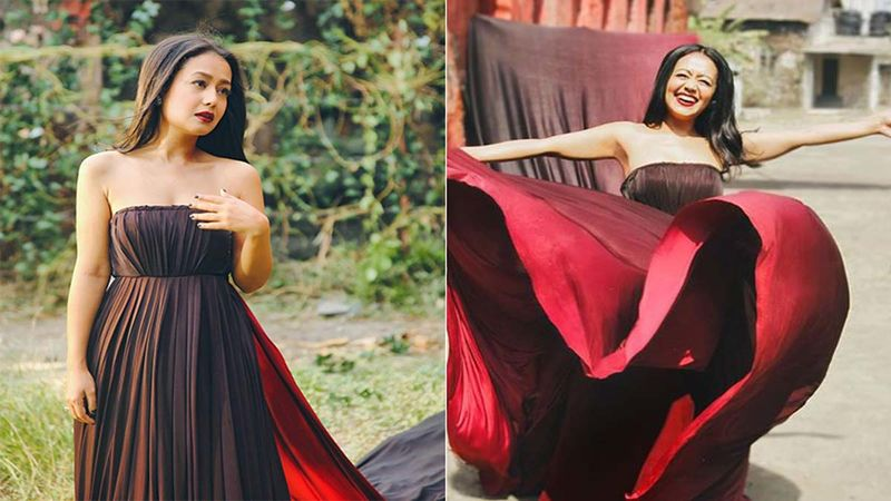 Singer Neha Kakkar Shares Her Expectations Vs Reality Pictures From The Sets Of Jinke Liye