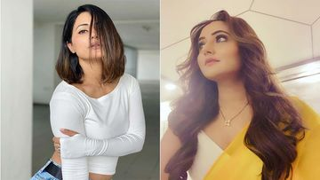 Hina Khan Poses For A Naughty Shot Wearing Spandex Hotpants; Rashami Desai Can't Stop Girl Crushing Over Her
