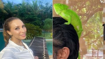 Is That Salman Khan With A Chameleon On His Head? Rumoured GF Iulia Vantur Posts A New Video –WATCH