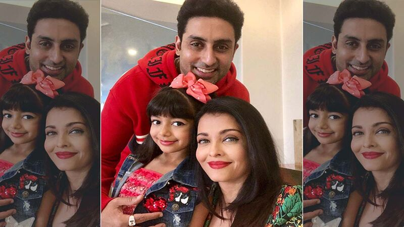 Abhishek Bachchan, Aishwarya Rai Bachchan Along With Their Daughter Aaradhya Bachchan Clicked At Mumbai Airport, As They Head To Paris