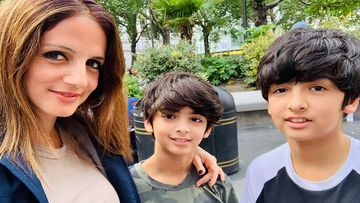 Hrithik Roshan's Ex Wife Sussanne Khan Calls Her Sons Hridhaan And Hrehaan Roshan 'Heart Monsters', Shares An Aww-dorable Picture
