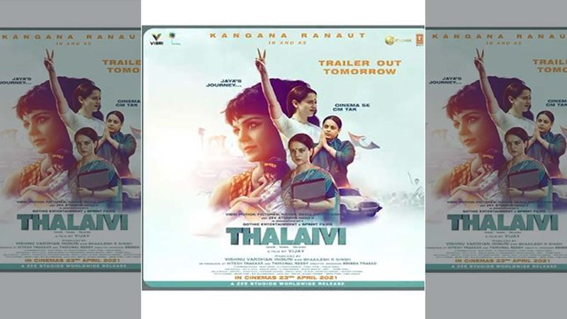 Thalaivi: Kangana Ranaut Treats Her Fans With Her Hard-Hitting Teaser Hours Before She Drops The Trailer