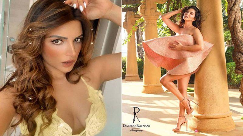 "Copy ""Hat"": Shama Sikandar Recreates Sunny Leone's Bold Dabboo Ratnani Calendar Photoshoot, Covers Her Modesty Behind A Big Sun Hat"