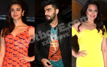 Has Arjun kissed and made up with both Sonakshi and Alia?