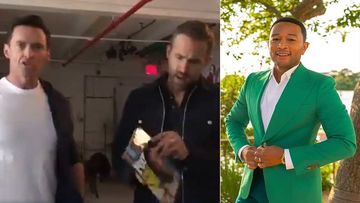 Hugh Jackman Mocks Ryan Reynolds With His Magazine Cover As He Congratulates John Legend On Being 'People's Sexiest Man Alive 2019'