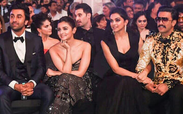64TH Filmfare Awards 2019: Deepika-Ranveer, Alia- Ranbir's Front Row Rendezvous- Candid Moments Of Lovebirds