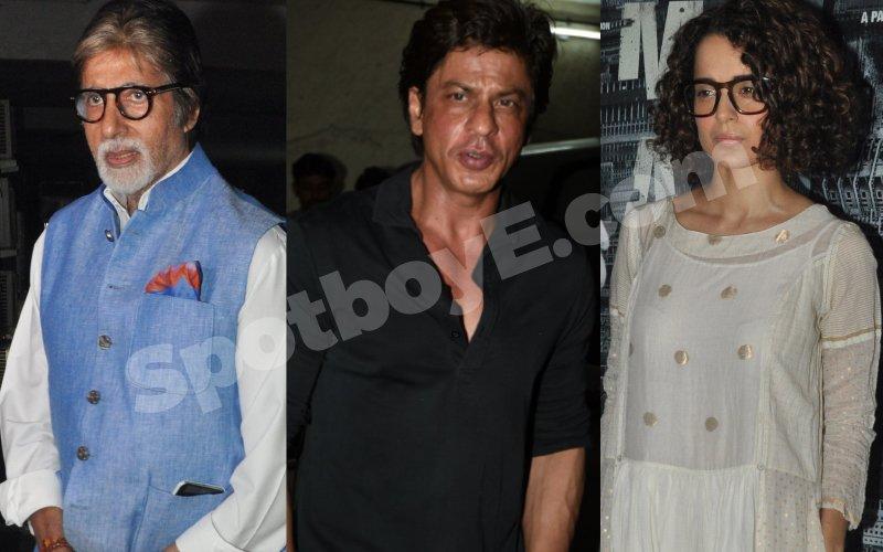 Big B, SRK, Kangana attend Madaari screening