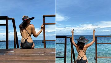 Karishma Tanna Looks Ravishingly Hot In A Black Monokini; Her Sexy Back Has All Our Attention