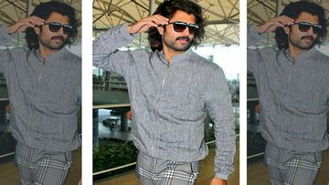 Vijay Deverakonda Makes A Style Splash At The Hyderabad Airport,We Wonder If It's His New Look From Fighter