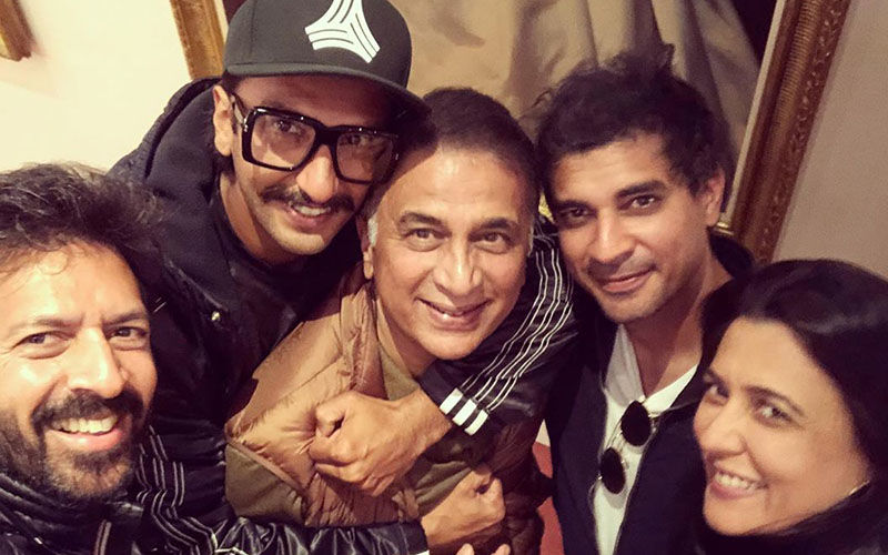 Ranveer Singh's Groupfie with Legendary Sunil Gavaskar During '83 Shoot Is Viral Worthy