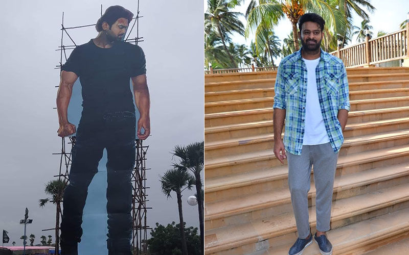 Prabhas' Fans Surprise Him With A Massive 70-Feet Installation In Hyderabad