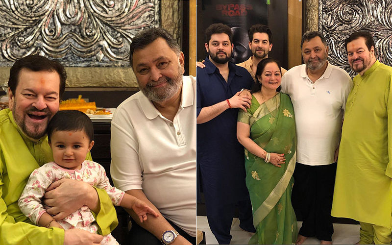 Post His Return From The US Rishi Kapoor Visits Neil Nitin Mukesh's House For Ganpati Darshan: View Pics