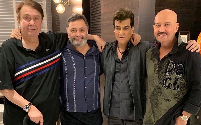 Rishi Kapoor Thanks Rakesh Roshan And Jeetendra For A Warm Welcome; Colleagues Are All Heart For The Fabulous Four Pic