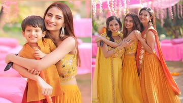 Shweta Tiwari Twins With Daughter And Son At Her Brother's Wedding; Pretty Family Rocks In Yellow - PICS