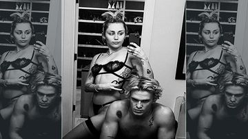 Miley Cyrus Strips Down To Lingerie To Enjoy Super Bowl Game With BF Cody Simpson; It's Getting HOT