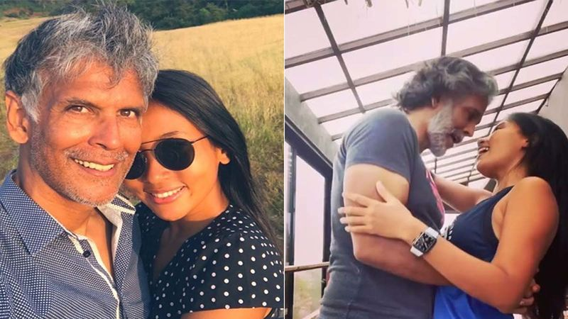 Milind Soman And Ankita Konwar Close Dancing To Elvis Presley's 'Can't Help Falling In Love' Makes The Monsoon Seem Oh-So-Romantic - Video Inside