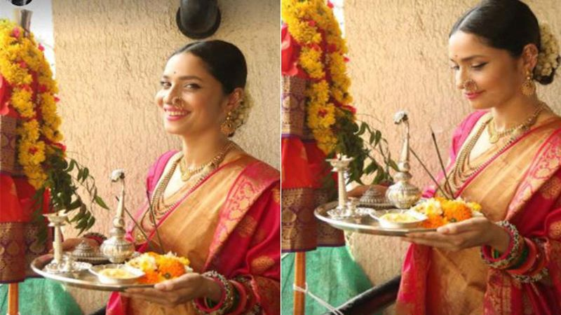 Happy Gudi Padwa 2021: Ankita Lokhande Dons A Typical Marathi Mulgi Avatar; Welcomes The New Year Performing Rituals-WATCH Video