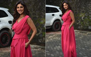 FASHION CULPRIT OF THE DAY: Shilpa Shetty Kundra's Pink Jarring Jumpsuit Is Hurting Our Eyes