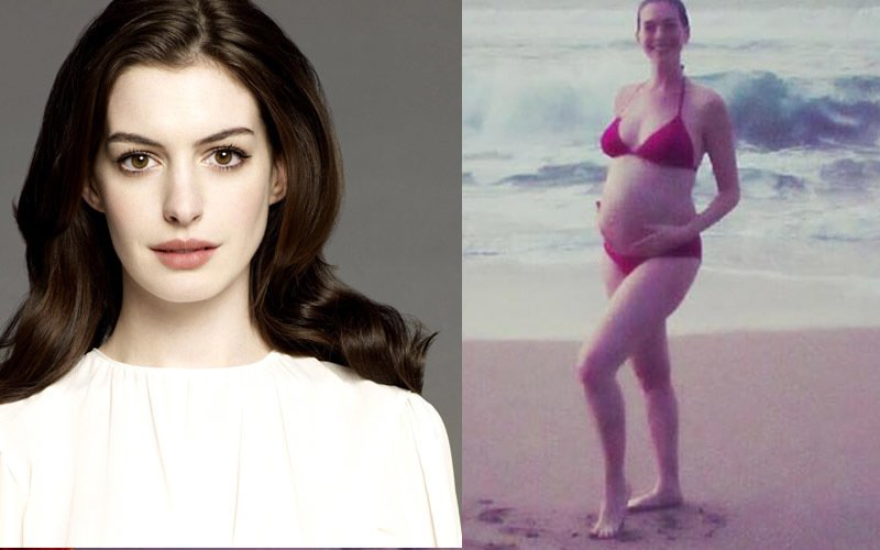 Anne Hathaway is a proud mommy!