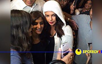 Priyanka returns home