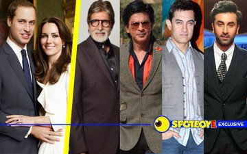 Amitabh, SRK, Aamir, Ranbir get invited to Prince William-Kate's Royal Bash