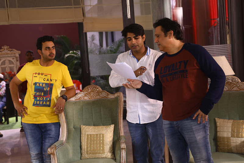 Govinda On The Sets Of Fryday
