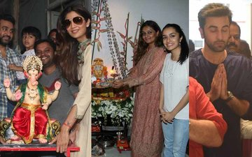 Shilpa Shetty, Shraddha Kapoor, Ranbir Kapoor celebrate Ganesh Chaturthi with great gusto