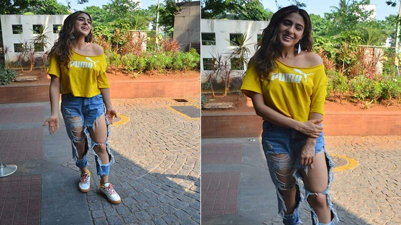 Sara Ali Khan Gets Massively Trolled For Her Distressed Jeans Look; Netizens Offer To Donate Some Clothes To Her