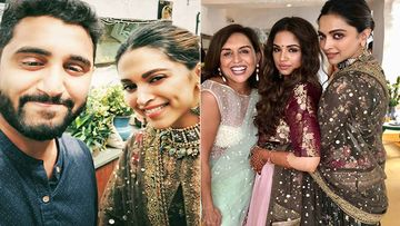 Deepika Padukone Looks Ravishing In A Sabyasachi Mukherjee Number For Her Friend's Wedding In Bengaluru
