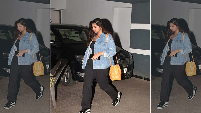 Besties Suhana Khan And Shanaya Kapoor Clicked Twining In Black And Blue Denim- PICTURES INSIDE