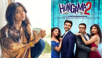 Shilpa Shetty To Begin Shooting For Hungama 2, Poses With Co-Stars Meezaan Jaffery And Paresh Rawal As They Jet Off For Shoot