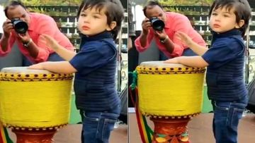 Taimur Ali Khan Unleashes His Unseen Talent, Captured Playing Drum At Karan Johar's Kids' Party- Video Inside