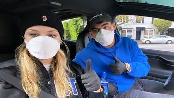A Pregnant Sophie Turner And Joe Jonas Post A Masked Selfie And Say, 'No F****G Around' Amid Coronavirus Outbreak