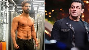 A Shirtless Varun Dhawan Jams To Salman Khan's Songs From Auzaar During His Workout Session