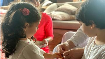 Soha Ali Khan Shares Adorable Pictures Of Taimur Ali Khan And Inaaya Naumi Kemmu Celebrating The Festival Of Rakhi