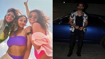 Alia Bhatt Poses In A Bright Pink Bikini With BFFs Akansha And Anushka Ranjan Kapoor; Grooves To 'Kaho Na Pyaar Hai' With Her Besties During Maldives Vacay