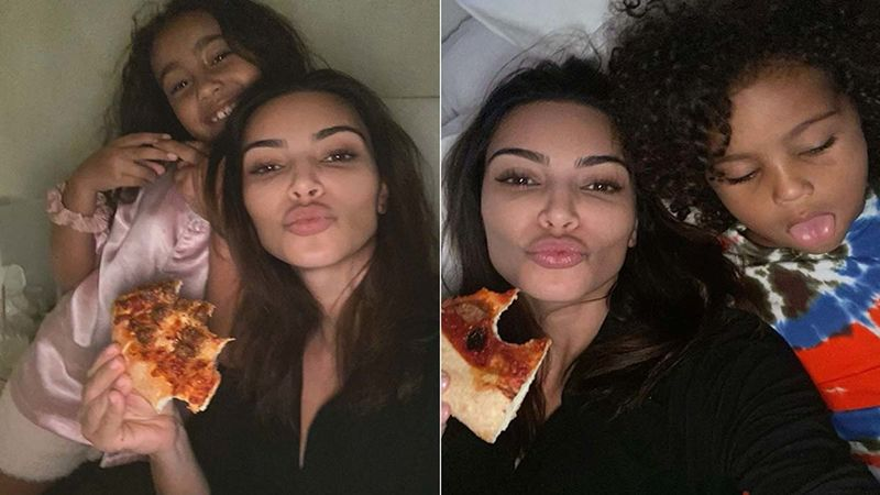 Amidst Divorce From Kanye West Kim Kardashian Hosts A Pizza Party For Her Kids, North West And Saint