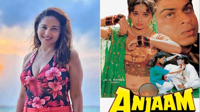 Anjaam Completes 27 Years: Madhuri Dixit Shares Some Unseen Vintage Pics Of Shah Rukh Khan And Deepak Tijori From The Film