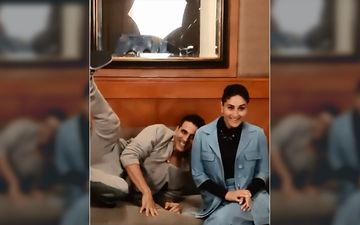 Kareena Kapoor Khan Ducks As Akshay Kumar Jumps With Joy As He Inches Closer To Good Newwz Release