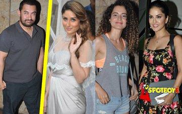 Aamir invites Kareena, Kangana, Sunny Leone to his house
