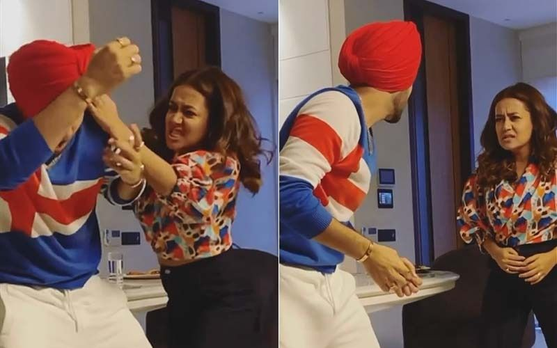 Neha Kakkar And Rohanpreet Singh Engage In An Physical Fight As They Promote Their Upcoming Song; Netizens Find It Too Cute- WATCH