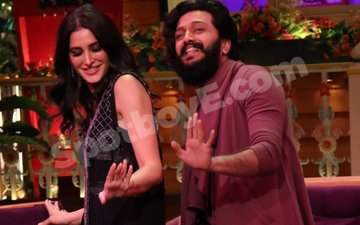 Ritesh Deshmukh, Nargis Fakhri on the sets of The Kapil Sharma Show