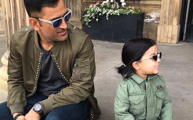 MS Dhoni's Little Munchkin Ziva Dhoni Poses With A Lot Of Panache In Her Latest Instagram Post