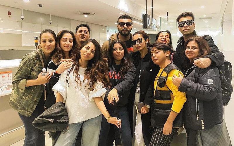 "Malaika Arora Says ""Au Revoir"" To Melbourne; Shares Pic With Boyfriend Arjun Kapoor, Karan Johar, Zoya Akhtar And Gang"