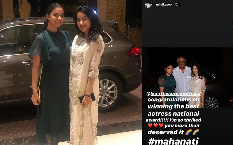 Janhvi Kapoor Showers Keerthy Suresh With Love And Praises For Winning National Film Award 2019